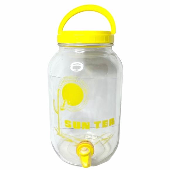 VTG Sun Tea Jar Pitcher Ball 1G Yellow 60s-70s SW